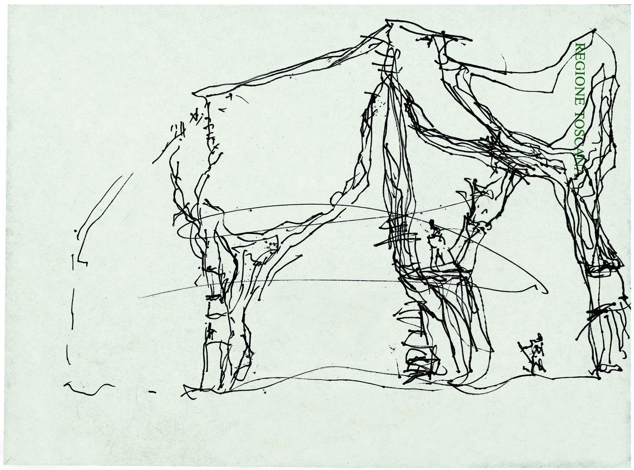 Giardino-degli-Incontri.-Schizzo-progettuale-1987-©-Archivio-Fondazione-Michelucci