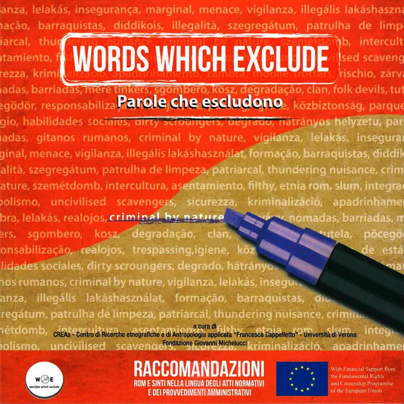 Words Which Exclude – Parole che escludono