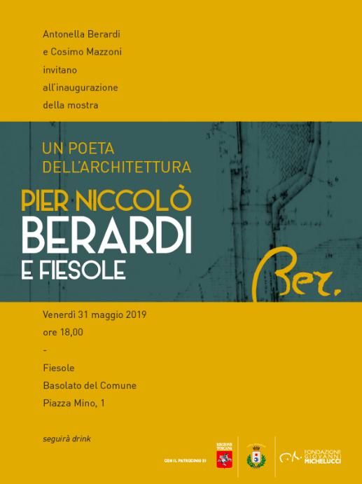 Mostra - Un poeta dell'Architettura. Pier Niccolò Berardi e Fiesole