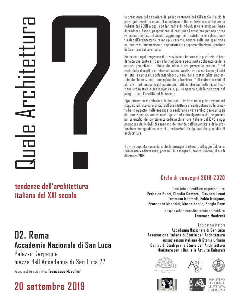 Quale Architettura? Tendenze dell'architettura italiana del XXI secolo