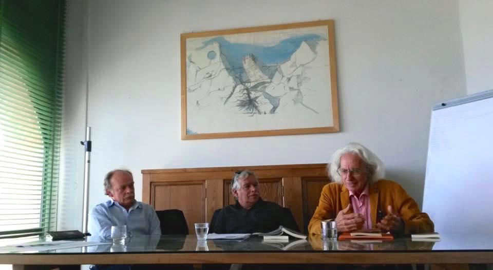 Silvano D'Alto interviene durante l'incontro dedicato al libro BRUNELLESCHI MAGO di Giovanni Michelucci, con Corrado Marcetti e Marco Zannoni, 28 maggio 2016 presso la Fondazione Giovanni Michelucci a Fiesole