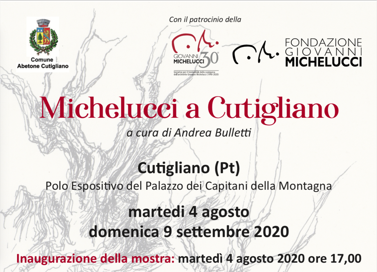 """Locandina della mostra """"Michelucci a Cutigliano"""""""