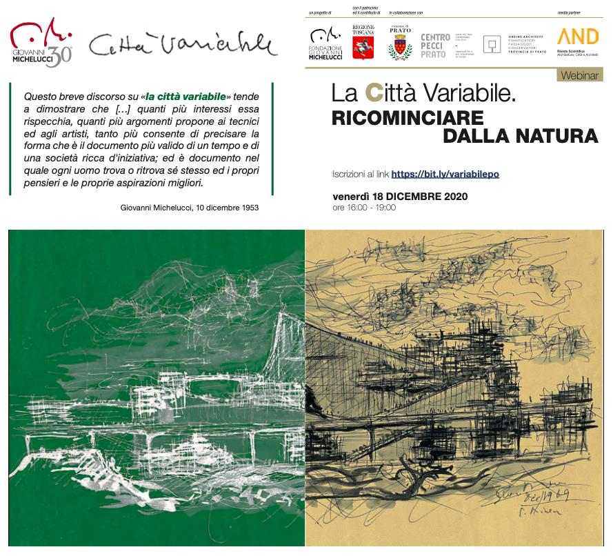 Webinar – La Città Variabile. Ricominciare dalla Natura